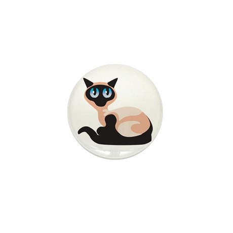 Blue Eyed Cat Mini Button (10 pack)