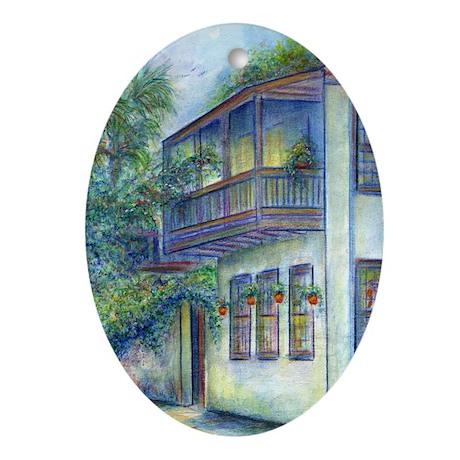 Old St. Augustine Dress Shop Keepsake (Oval)