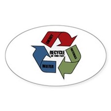 Recycle Energy Water Materials Oval Decal