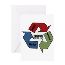 Recycle Energy Water Materials Greeting Card