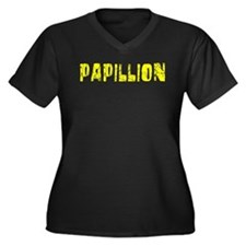 Papillion Faded (Gold) Women's Plus Size V-Neck Da