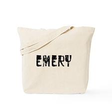 Emery Faded (Black) Tote Bag