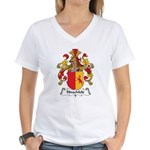 Hirschfeld Family Crest Women's V-Neck T-Shirt