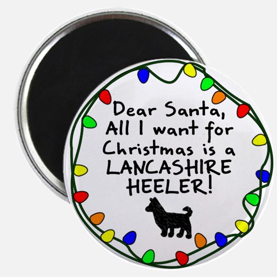 Dear Santa Lancashire Heeler Christmas Magnet