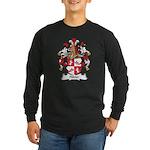 Hibler Family Crest Long Sleeve Dark T-Shirt