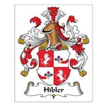 Hibler Family Crest Small Poster