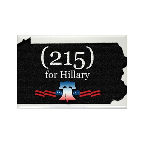 PENNSYLVANIA - (215) for Hill Rectangle Magnet