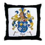 Heyl Family Crest Throw Pillow
