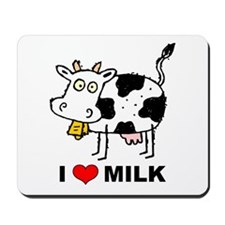 I Love Milk Mousepad