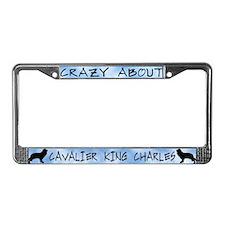 Crzy Abt Cavalier King Charles License Plate Frame