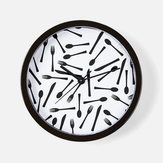Cute Kitchen utensils Wall Clock