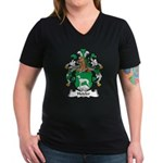 Hetzler Family Crest Women's V-Neck Dark T-Shirt