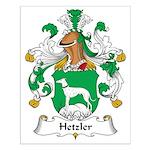 Hetzler Family Crest Small Poster