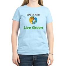 Live Green Yin-Yang Earth T-shirt T-Shirt