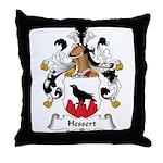 Hessert Family Crest Throw Pillow