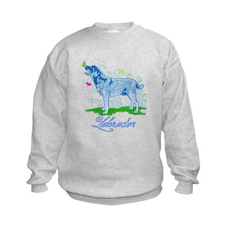 Labrador Butterflies Kids Sweatshirt