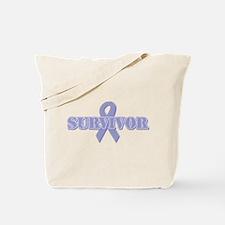Lavender Ribbon Survivor Tote Bag