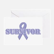 Lavender Ribbon Survivor Greeting Card