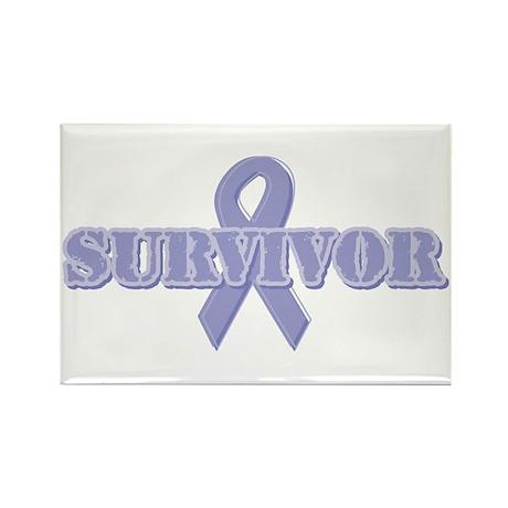Lavender Ribbon Survivor Rectangle Magnet (10 pack