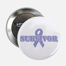 """Lavender Ribbon Survivor 2.25"""" Button"""