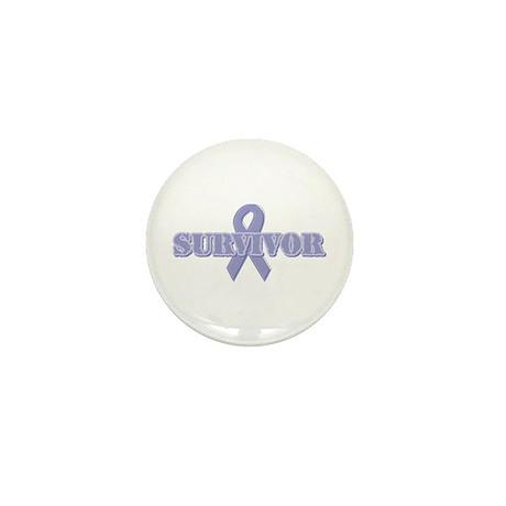 Lavender Ribbon Survivor Mini Button