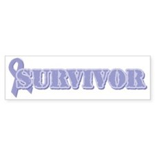 Lavender Ribbon Survivor Bumper Sticker