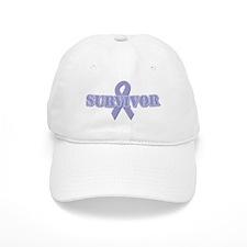 Lavender Ribbon Survivor Baseball Cap