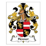 Henner Family Crest Small Poster