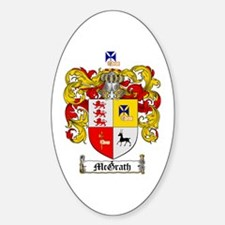 McGrath Family Crest Oval Decal