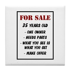 For Sale 35 Years Old Tile Coaster