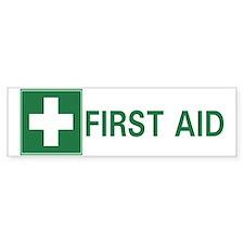 First Aid Bumper Bumper Bumper Sticker