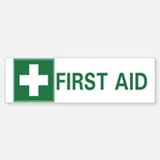 First Aid Bumper Bumper Bumper Sticker