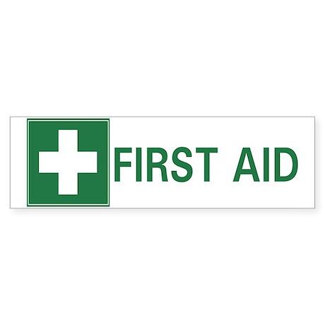 First Aid Bumper Sticker