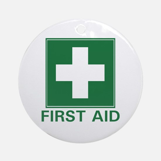 First Aid Ornament (Round)