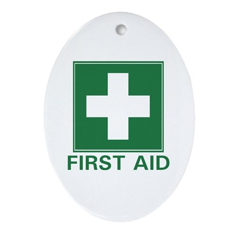 First Aid Oval Ornament