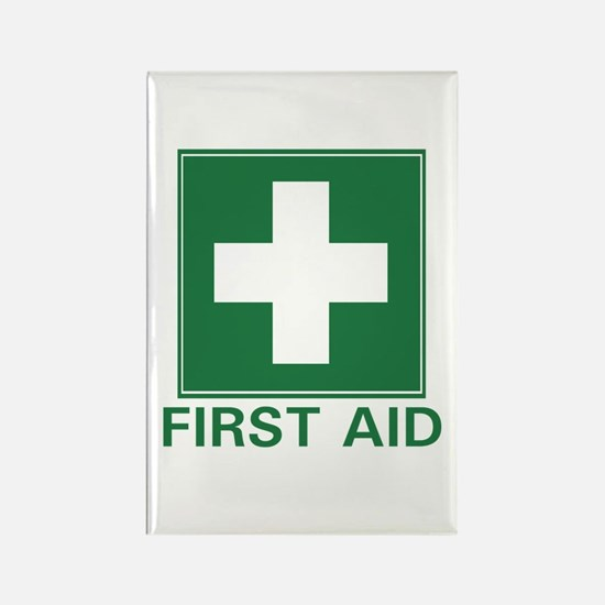 First Aid Rectangle Magnet