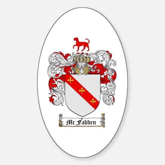 McFadden Family Crest Oval Decal
