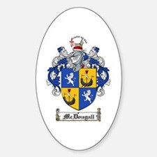 McDougall Family Crest Oval Decal