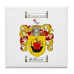 McDonald Family Crest Tile Coaster