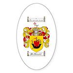McDonald Family Crest Oval Sticker