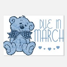 Blue Marbled Teddy Due In March Postcards (Package