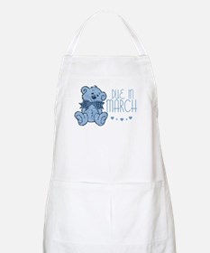 Blue Marbled Teddy Due In March BBQ Apron