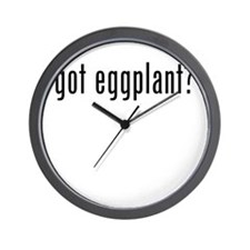 got eggplant? Wall Clock