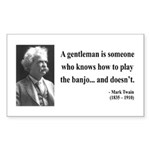 Mark Twain 36 Rectangle Sticker