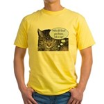 CAT NAP HUMOR Yellow T-Shirt