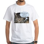 CAT NAP HUMOR White T-Shirt