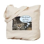 CAT NAP HUMOR Tote Bag