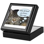 CAT NAP HUMOR Keepsake Box