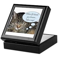 CAT NAP HUMOR Keepsake Box