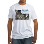 CAT NAP HUMOR Fitted T-Shirt